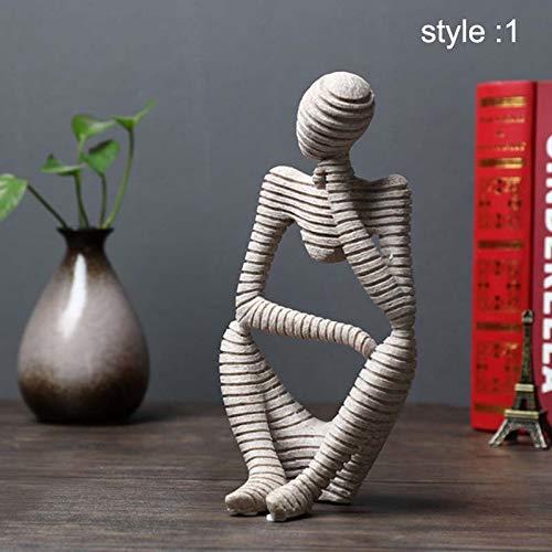 Fanville Sandstein abstrakte Figur dekorative Ornamente für Wohnzimmer Büro Skulptur Denker Statue abstrakte Figur