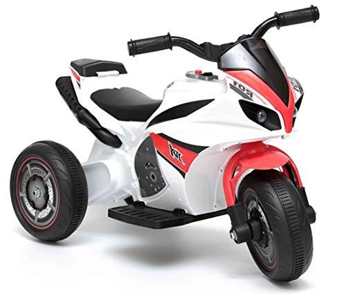 fit4form Kinder Elektro Super Trike Elektromotorrad 6V Red Kindermotorrad Dreirad elektrisch