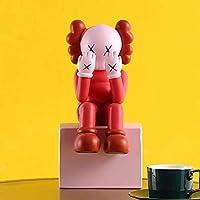 COLiJOL ファッション樹脂ティッシュボックス漫画ペーパータオルディスペンサーティッシュディスペンサーナプキンボックスティッシュホルダーグリーン,赤