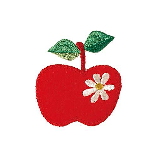 清原 KIYOHARA プティデポーム アップリケワッペン リンゴ 約幅4.6cm×縦5.1cm 1枚入り PTM-303 [0903]
