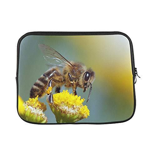 Design Custom Detail of Bee Or Honeybee in Latin Apis Mellifera Sleeve Soft Laptop Case Bag Pouch Skin for MacBook Air 11'(2 Sides)