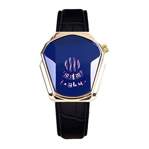 Lanceasy Diamond Style - Reloj de cuarzo (resistente al agua, correa de acero), 04, Stainless