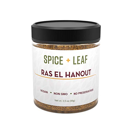 Ras El Hanout by Spice + Leaf - Premium Morrocan Spice Blend | Vegan, Non GMO, Salt Free, and Preservative Free