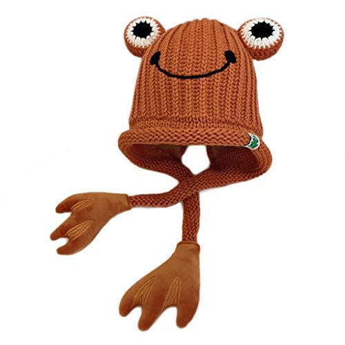 Yoking Strickmütze, niedlich, Frosch, Cartoon, Mütze mit Ohrenschützer