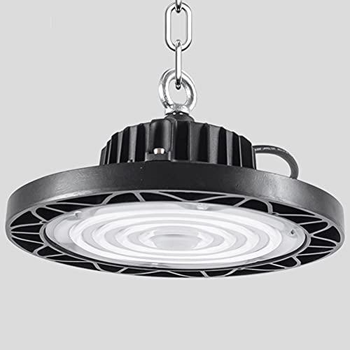 LED High Bay Light 300W 36000LM UFO High Bay LED Shop Light, 20000 Lúmenes, 6000-6500K, IP65, Resistente Al Agua Y Al Polvo, Instalación De Gancho, Almacén, Taller, Luz De Área De Humedales,150w