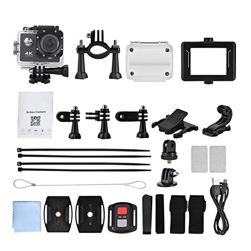Clasken DV, cámara de acción, Kit de Accesorios de cámara de acción a Prueba de Agua 1080P, Mini Coche Deportivo acuático DVR para Deportes Extremos al Aire Libre