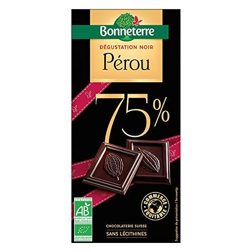 BONNETERRE Chocolat noir dégustation 75% Pérou 100G Bio -