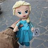 yunding Frozen Elsa Disney Dolls Snow Queen Princess Elsa Doll Toys Stuffed Plush Kids Girl Toys Cumpleaños 30Cm