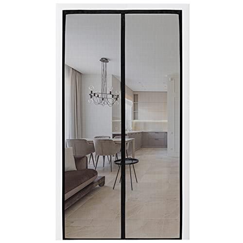 Oiyeefo Magnet Screen Door Closure,Full Frame Seal, Fiberglass Magnetic Mesh, Heavy-duty, Durable, Keep Irritants Out, Hand-free Fram Smart Strips, Kids Pets Friendly For Patio Door, Back Door (36x83)