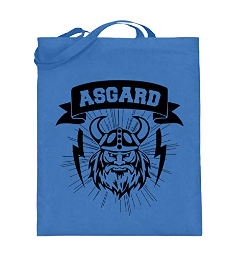 Asgard   Midgard Wikinger Germanen Wikinger Biker Rocker Neu-Heidentum Asatru Pagan Metal - Jutebeutel (mit langen Henkeln)