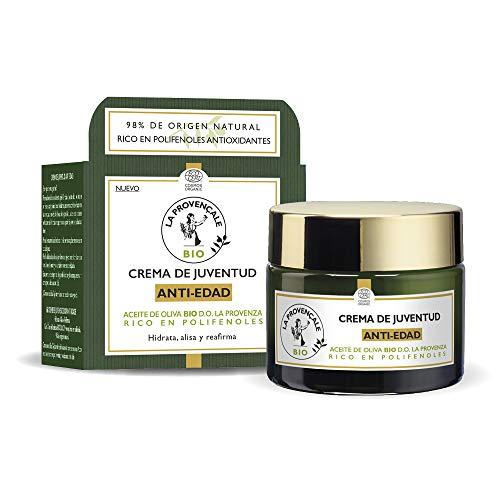 Crema Anti Edad de Día con Aceite de Oliva Bio Hidrata, Reafirma y Recupera la Elasticidad, 50 ml, La Provençale Bio