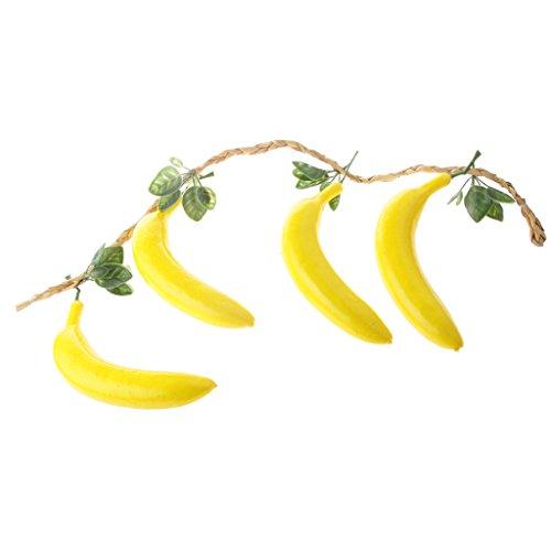 4pcs Künstliches Obst Kunstobst Kunstgemüse Bananen Deko Obst Spielzeug