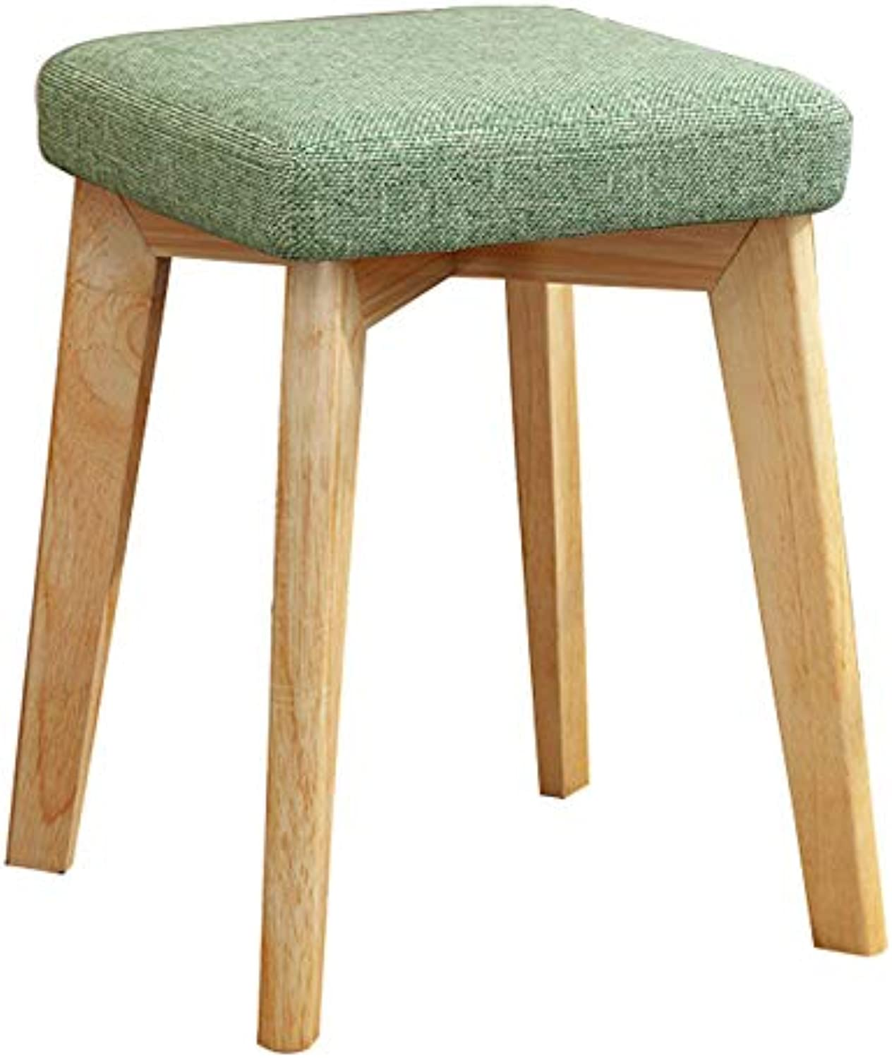 Small Square stool Fashion Modern Makeup stool Simple Solid Wood Chair Adult Fabric Soft stool