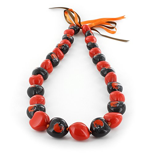 "Aminco NFL Cleveland Browns Kukui Nut Necklace, Orange/Brown, 15"" x 3"" x 1"""