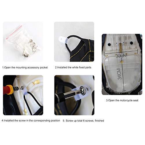 Bolsa de asiento: bolsa de almacenamiento confiable para vacaciones para viajes de larga distancia para proteger la seguridad de la bicicleta cuádruple