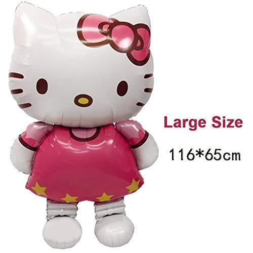 Großer Folien-Luftballon, Hello Kitty Katzen-Design, 116 x 65cm, als Geburtstagsdekoration, für Hochzeitsparty, aufblasbar