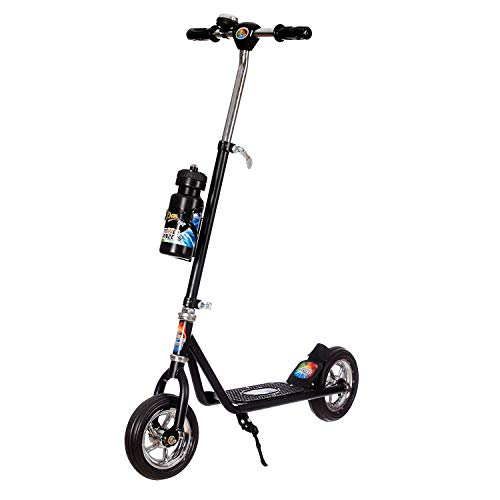 Dash 2 Wheeler Power Ranzer Scooter , Scooty with Sipper, Bell & Stand with Adjustable Height for Boys & Girls (Black, Upto 15 Years Kids)