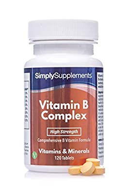 Vitamin B Complex | Contains 8 Essential B Vitamins | 120 Tablets| 100% money back guarantee | Manufactured in the UK by Simply Supplements