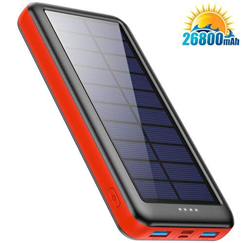 Cargador Solar 26800mAh, Ekrist Batería Externa Solar de