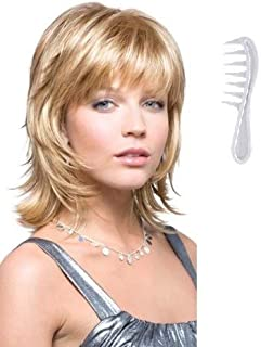 Bailey Wig #2346 by Rene of Paris, Bundle - 2 Items: Wig and Wig Lift Comb (Color Selected: Maple Sugar)