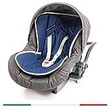 BabyCANGAROO Funda de asiento universal para cochecito, asiento de coche y colchón de trona para comida de bebé, Algodón y 3D Air Transpirable Made in Italy (Blu Navy)
