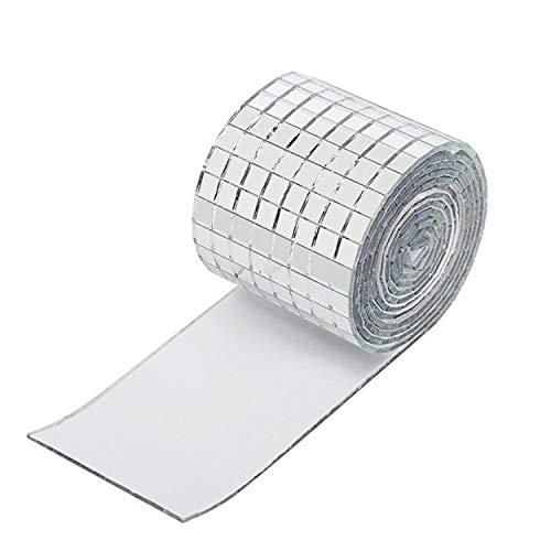 Lodenlli Etiqueta engomada de la Pared del Espejo de Vidrio con Bordes Lisos Mosaico de autohesión Material de Seguridad Etiqueta Adhesiva de decoración Parche