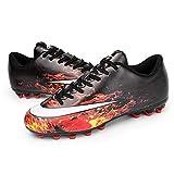 AIRUYI Zapatos deportivos Botas de fútbol Zapatos de fútbol al aire libre Profesional Zapatos de entrenamiento Deportes Zapatillas de competición con tacos (color: roca volcánica, tamaño: 40)