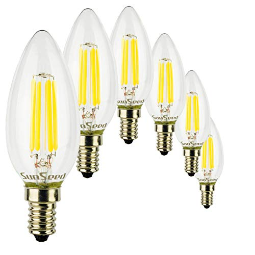 SunSeed® 6x Glühfaden LED Kerze Lampe E14 6W ersetzt 60W Neutralweiß 4000K