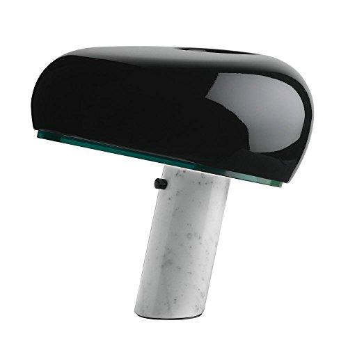 SNOOPY – Lámpara de mesa mármol y negro, altura 37 cm | Lámpara de mesa FLOS diseñada por Achille Castiglioni & Pier Giacomo Castiglioni