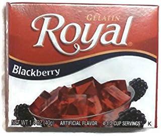 Royal Gelatin Blackberry, 1.4-Ounce (Pack of 6)