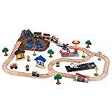 KidKraft 17826 Bucket Top Mountain Wooden Train Track Set for Kids, Railway with Accessories Included (61 Pieces)