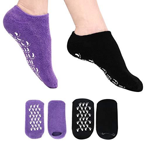 Moisturizing Socks Heel Gel Sock - Callus Rough Foot Care Treatment Soft Silicone Gel Lined Infused...
