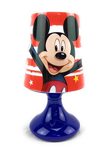 Lampe de Chevet, Mickey Mouse (Bleue) - Mini lampe Led, Effets Lumineux, Mickey - Disney