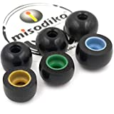 misodiko TWS-Pro Earbuds Tips for Jabra Elite 75t, 65t, Sport, Active 65t, Evolve 65t/ Samsung Galaxy Buds, Gear IconX/Creative Outlier Air, Gold - Replacement Memory Foam Eartips (3-Pairs, S/M/L)