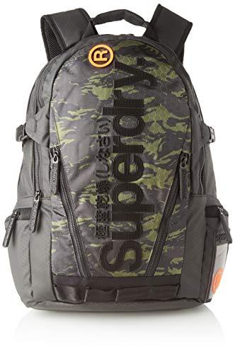 Superdry Herren Tarp Backpack Rucksack, Grün (Green Camo), 28x45x12 cm