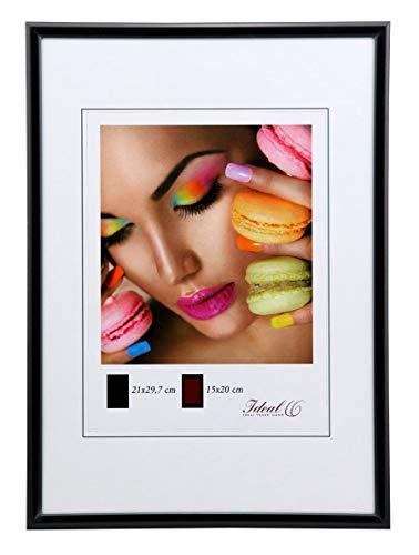 Ideal Trend Kunststoff Bilderrahmen 10x15 cm bis 50x70 cm Bilder Foto Rahmen: Farbe: Schwarz | Format: 50x70