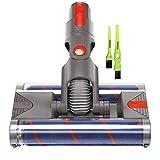 Italdos Spazzola Motorizzata Elettrica Turbo compatibile per Dyson V7 V8 V10 V11 Spazzola a Sgancio Rapido con Doppio Rullo Setole Morbide per Pavimento Parquet Piastrelle