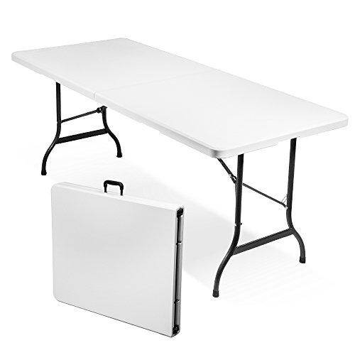 Tavolo 180x75cm resina richiudibile valigia pieghevole picnic 45065