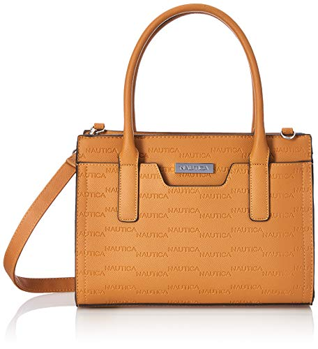 Nautica womens Sandy Jr. Top Handel With Removable Crossbody Strap Satchel Bag, Camel, One Size US