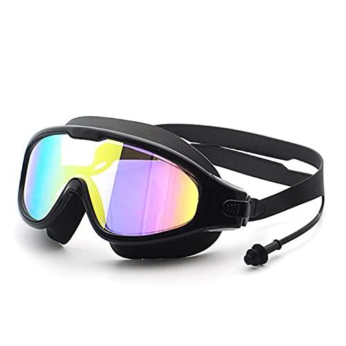 WANGYA Gafas de natación Gafas de natación Impermeable de UV de galvanoplastia para Hombres Mujeres Anti Niebla Traje de baño Nadar Buceo Gafas de natación Ajustables Gafas de natación Profesional