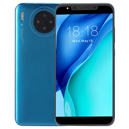 Unlocked Smartphones 3G, International Android Unlocked Cell Phones, 5.72in HD Screen, 512MB +4G, 2MP + 2MP Quad Camera, Dual Card Dual Standby, Face ID&Fingerprint Unlock(Blue)