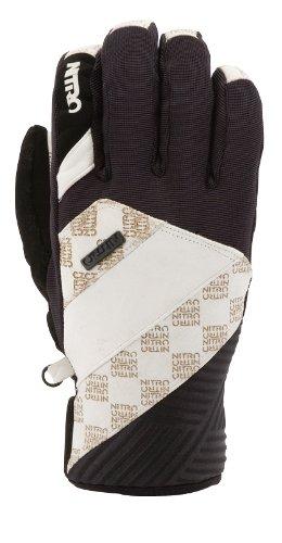 Nitro Snowboards Herren Handschuhe Trooper Glove, White Leather-Black, M
