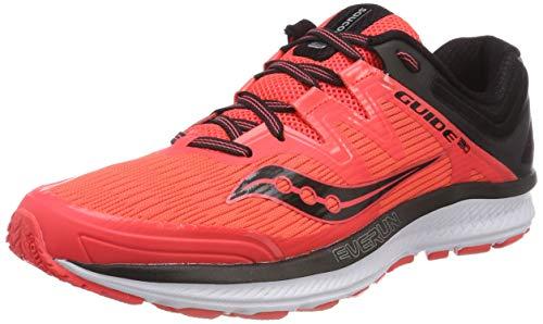 Saucony Women's Guide ISO Running Shoe, Vizi red/Black, 7.5 Medium US