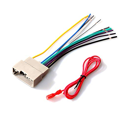 RED WOLF Replacement for 2007-2011 Dodge/Chrysler/Jeep Car Stereo Wire Harness Aftermarket Radio Sirius CD Player Install Connector Adapter