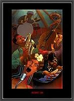 ポスター ジャスティン ブア Jazz Quintet 額装品 ウッドベーシックフレーム(ブラック)