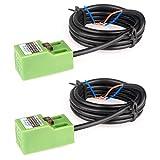 GUUZI 2 piezas SN04-N DC NPN Sensor de Aproximación Interruptor de Proximidad Inductivo Interruptor de Sensor 5mm 3 Cables 6-36V/CC