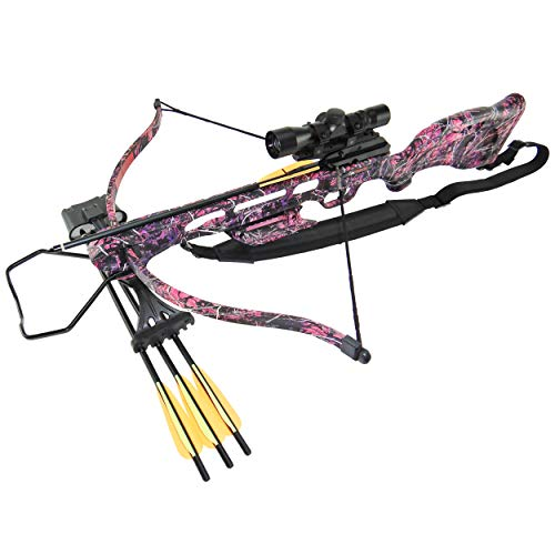 SA Sports Empire Muddy Girl Fever Pro Crossbow Package, 175 Pound Draw, 235 Feet per Second
