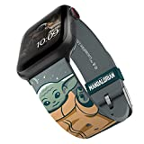 Star Wars: The Mandalorian – The Child Snow Smartwatch Band – Officially Licensed, Compatible with Apple Watch (not Included) – Fits 38mm, 40mm, 42mm and 44mm