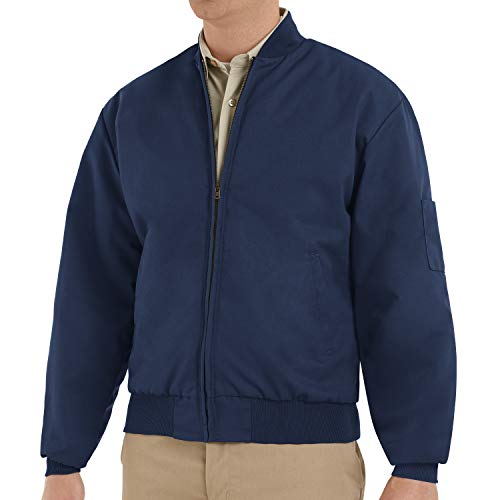 Red Kap Men's Solid Team Jacket, Navy, Large