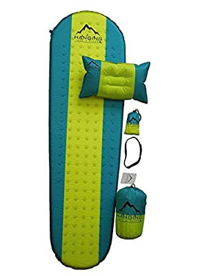 TFC Store Premium Self Inflating Sleeping Pad with Pillow Insulated for Hiking & Camping 1.5 inches Thick